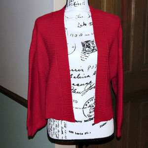 TIMING Red Open Cropped Cardigan - S - NWT